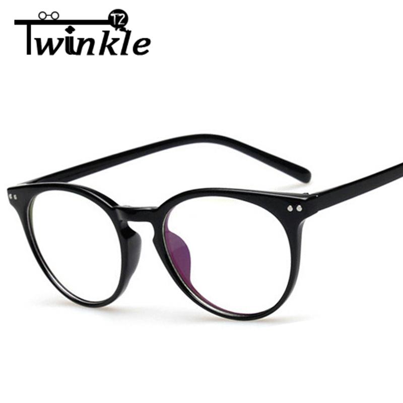 Eyeglass Frames Accessories : Vintage Optical Glasses Women Clear Lens Glasses Men Retro ...