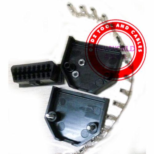 Universal 16 Pin OBD 2 OBD II OBD Female Diagnostic Tool Connector plug Shell(China (Mainland))