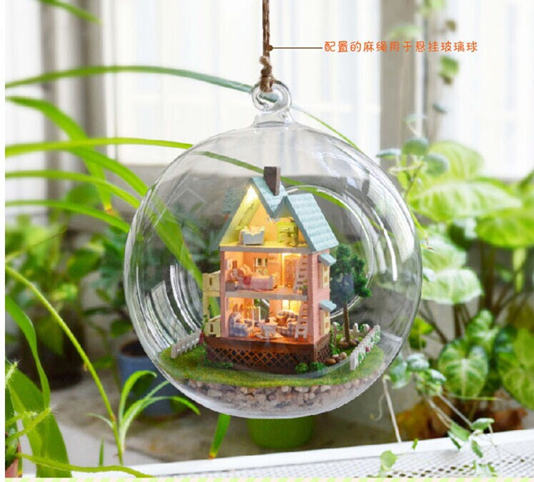 DIY Wooden Dollhouse Miniature Model Kits Light &all furnitures - Wings of wind store
