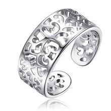 Стерлингового Серебра 925 Сердце Моды Ринге Frauen Выдолбленные Открытым Ртом Offenen Грейс Кольцо 1 шт.(China (Mainland))