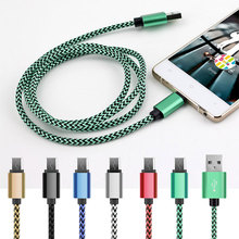 Buy Android/Samsung/Xiaomi/HTC/Huawei/LG/Asus phone 2A fast charge plug metal braided rope Micro USB cable 1m/2m/3m Data charger for $1.35 in AliExpress store