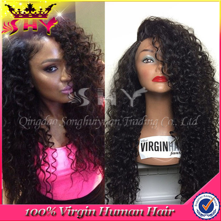 Shy Hair 2015 SHY2015145 full lace human hair wigs brazilian human hair short wig 7a glueless full lace human hair bob wigs for black women middle part full lace wigs 130% density