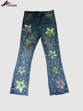 2017 High Quality Fashion Women Jeans New Arrival Luxury Wide Leg Pants Woman Jeans(China (Mainland))