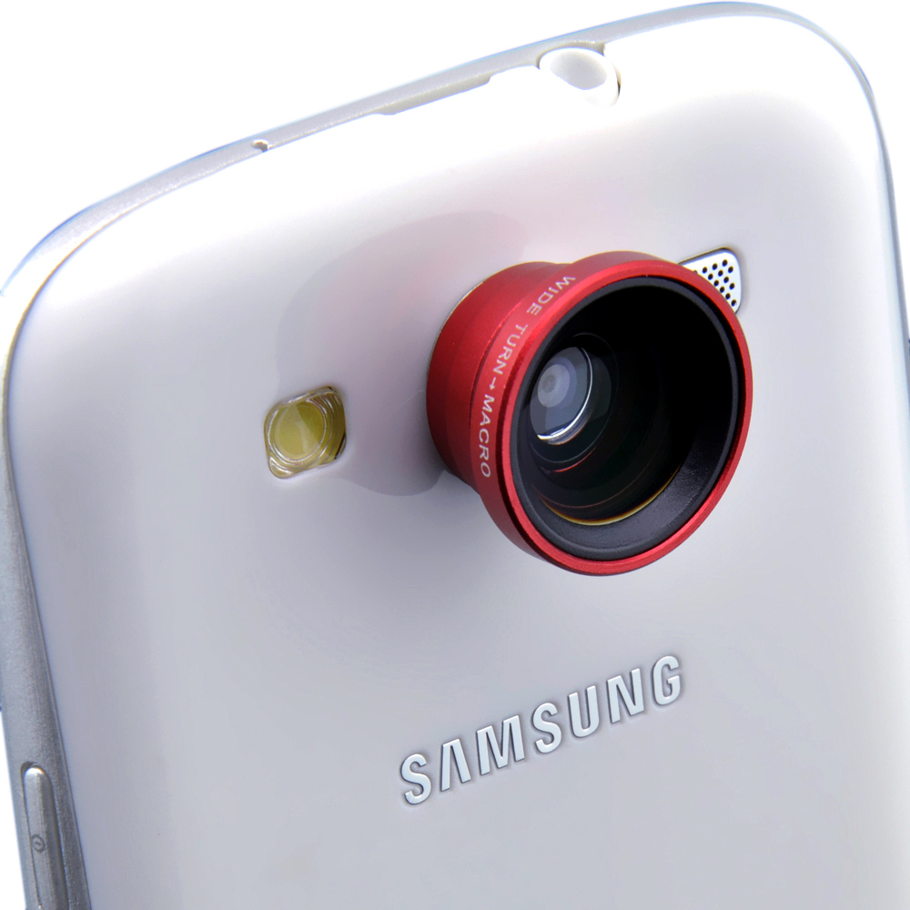 2In1 Magnitic Cellphone Camera Lens Kit Wide Angle and Macro Lens for iPhone 6Plus 6 5S 5C 5 4S 4 Samsung Galaxy S6 S5 Note 4 3
