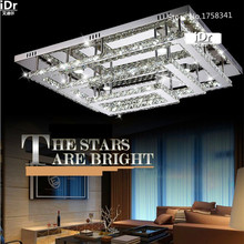 Modern rectangular LED Luxury lampBedroom lamp Hall  home lighting Crystal Lamps Ceiling lamps high quality L900xW700xH260MM(China (Mainland))