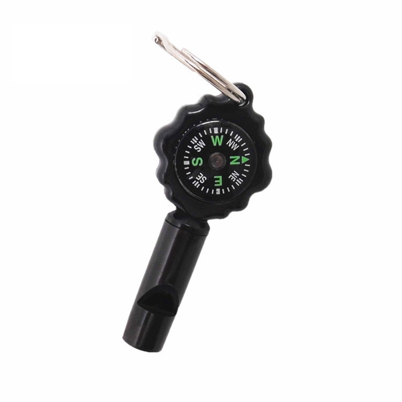 New 2 in1 Outdoor Survival Tool Keychain Whistle Compass For Outdoor Camping Hiking Travel Kit(China (Mainland))