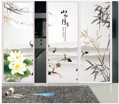 Traditional Chinese custom Wall Sticker PVC Vinyl DIY Home Decor Decoration restaurant cabinet Stickers CWPCN034(China (Mainland))
