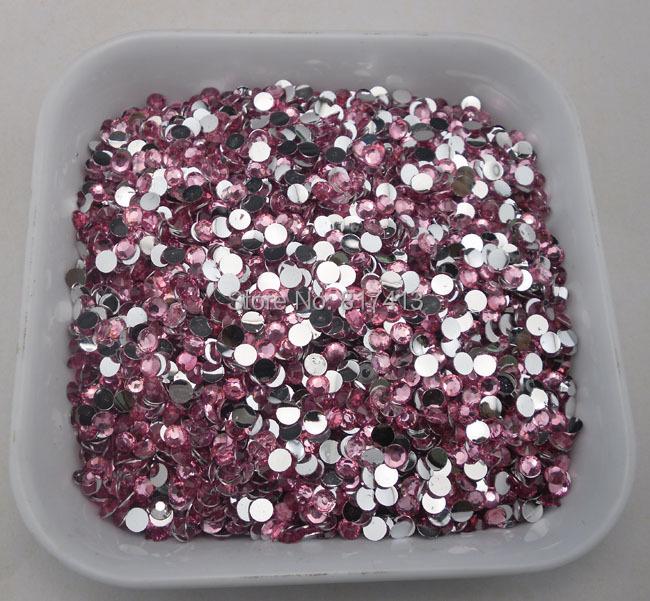 SS16 Diy crystal dark pink 4mm flat back rhinestones mobile beauty nail Art 500pcs(China (Mainland))