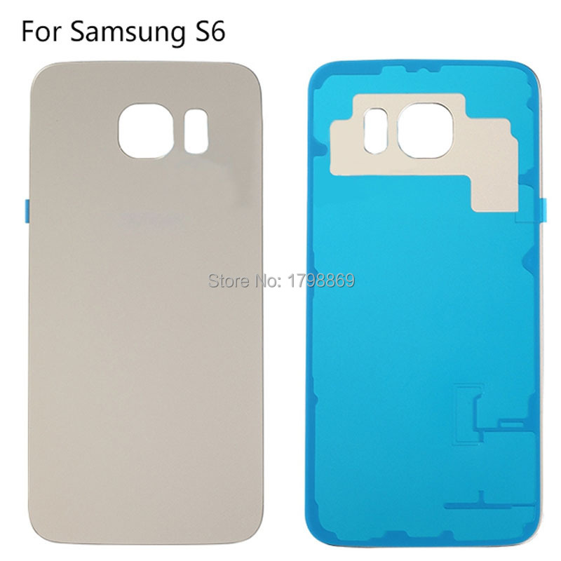 Brand Mobile Phone Back Cover Case For Samsung Galaxy S6 / S6 Edge Battery Door Housing With Logo Replacement For G920F G925F