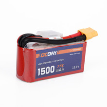 Buy OCDAY Li-polymer Lipo Battery 3S 11.1V 1500Mah 75C XT60 Plug RC Helicopter Qudcopter Car Airplane Bateria Lipo for $24.98 in AliExpress store