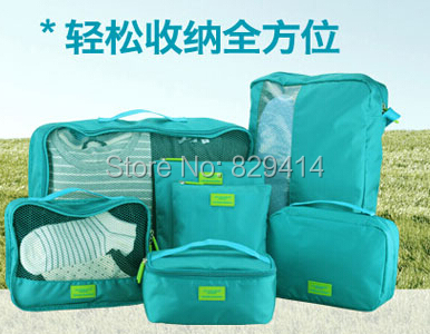 High-end 7pcs/lot set Travel Accessories Men and Women Good Partner Travel Storage Bags (seven different sizes Bags)(China (Mainland))