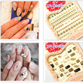 Beauty 1 Pieces Colorful Star Words Designs 3D Nail Art Stickers For Nails Decoration Manicure Water