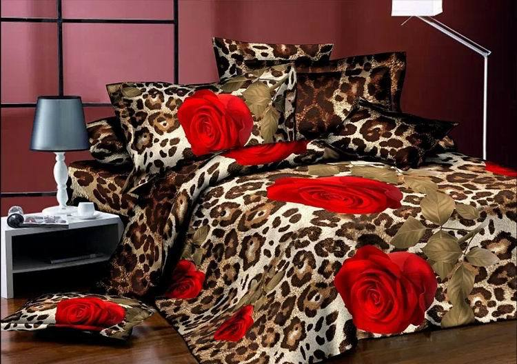 Leopard print duvet cover promotion shop for promotional for Housse de couette king size