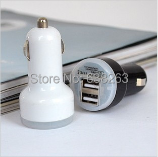 1pcs 2.1A + 1A Dual USB Car Charger for iPad,for iPhone 5 4G 3GS and Cell Phone / tablet / Mp3 / Mp4 for samsung i9500 i9600(China (Mainland))