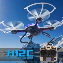 2016new 5.0MP HD Camera Optional! JJRC H12C rc helicopter 2.4G 4CH Headless Mode One Key Auto Return Quadcopter drone toy VS H8D