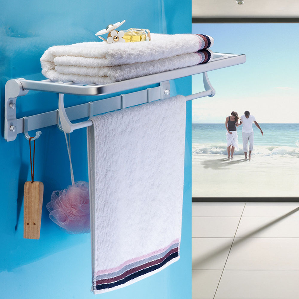 Towel Bars. Seamless Strong Suction Cup Double Towel Rack With Hook ...