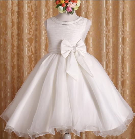 Hot sales!2015 New Retail girls Beautiful Dance Baby princess Dress children wedding party dress/pink dress white 25(China (Mainland))