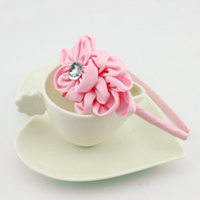 300 Pcs/lot Satin Rose Hairband