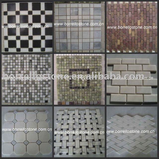 Black and White Marble Decorative Mosaic tile