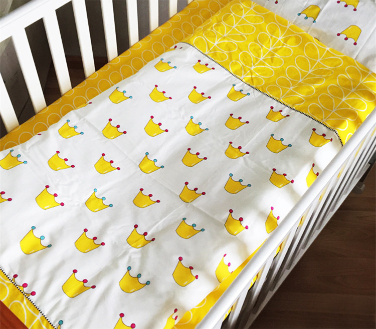 3pcs/set Cute Kid Bedding Sets Bed Three-piece Suit Without Comforter Cartoon Crown Tree Fruit Animal Pattern In Stock Hot Sell(China (Mainland))