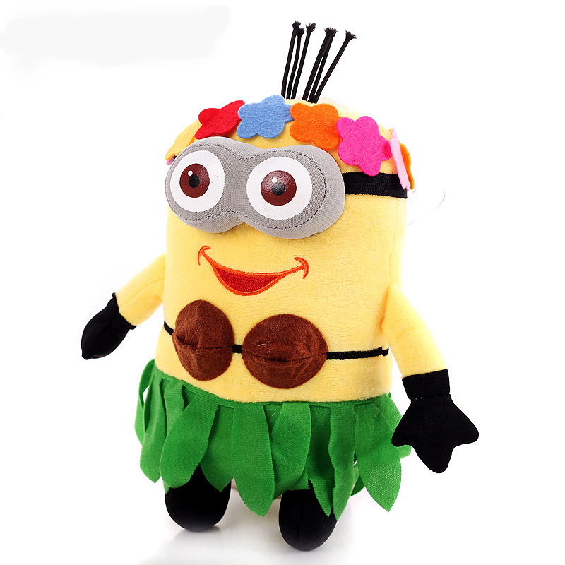 Nem despicable me doll big minion plush stuffed toys 3 d eyes like Hawaii yellow pet doll baby toy(China (Mainland))