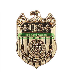 HOT sale High Quality NCIS Badge Full Metal Gold Plated Replica Waist Badge Pin 18K Stylish accessories Free shipping