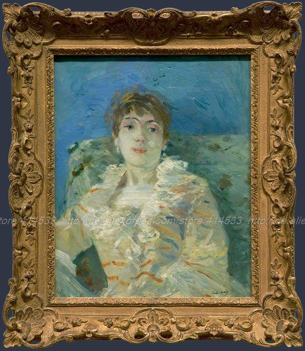 Acrylic Paint By Number Large Canvas Wall Painting Canvas Art Canvas Decoratio Berthe Morisot Girl On A Divan(China (Mainland))
