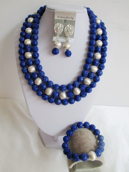 Здесь можно купить  2015 Fashion african blue Artificial coral beads  jewelry set nigerian wedding african beads jewelry set Free shipping P-3151 2015 Fashion african blue Artificial coral beads  jewelry set nigerian wedding african beads jewelry set Free shipping P-3151 Ювелирные изделия и часы