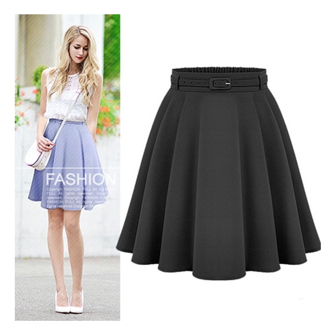 Women s Casual Medium Knee length Skirts Retro Stylish Female High Waist Ball Gown Skirts Femininas