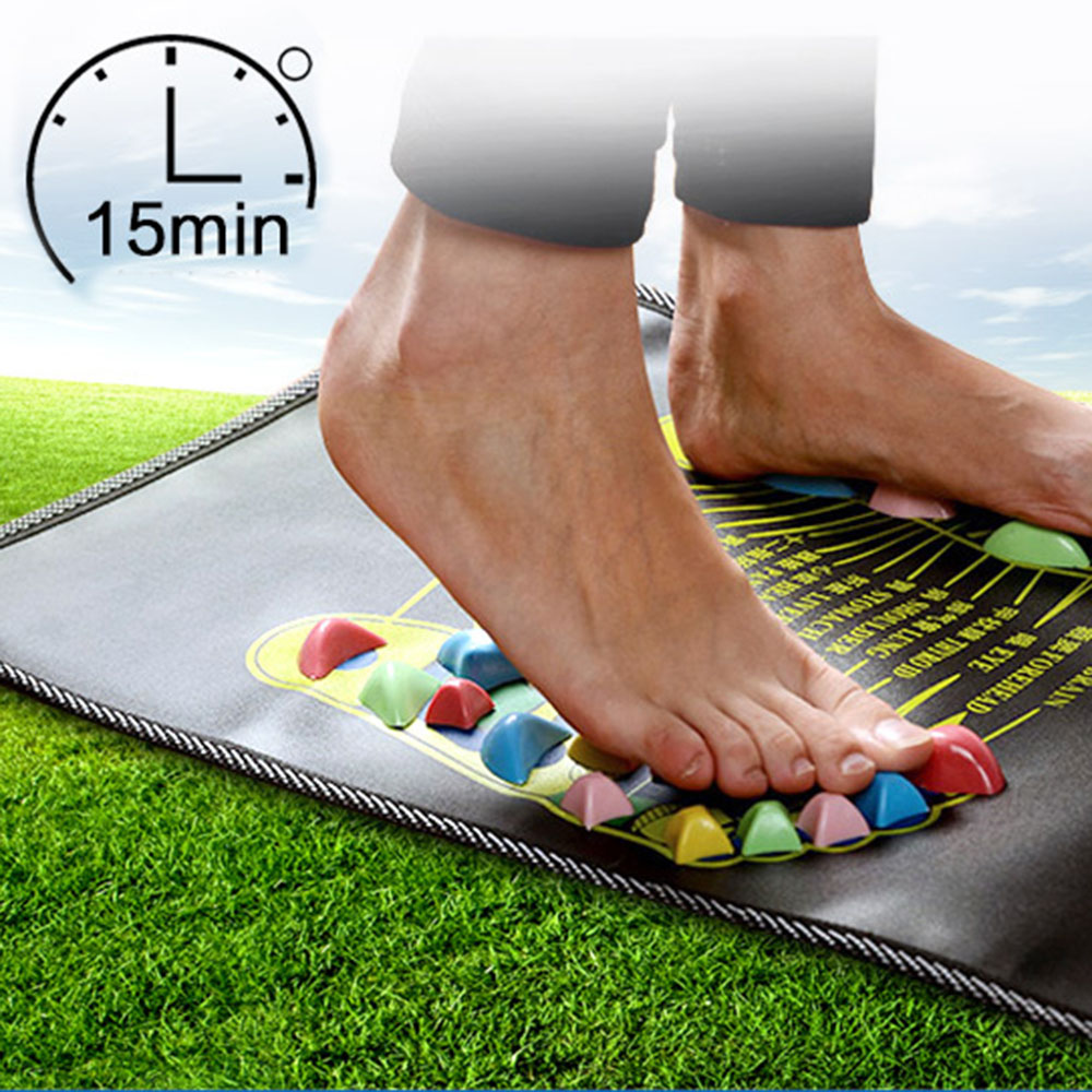 New Arrival Square Foot Massage Cushion Gravel Foot Massage Mat Fitness Stone Road Foot Pad Health Care(China (Mainland))