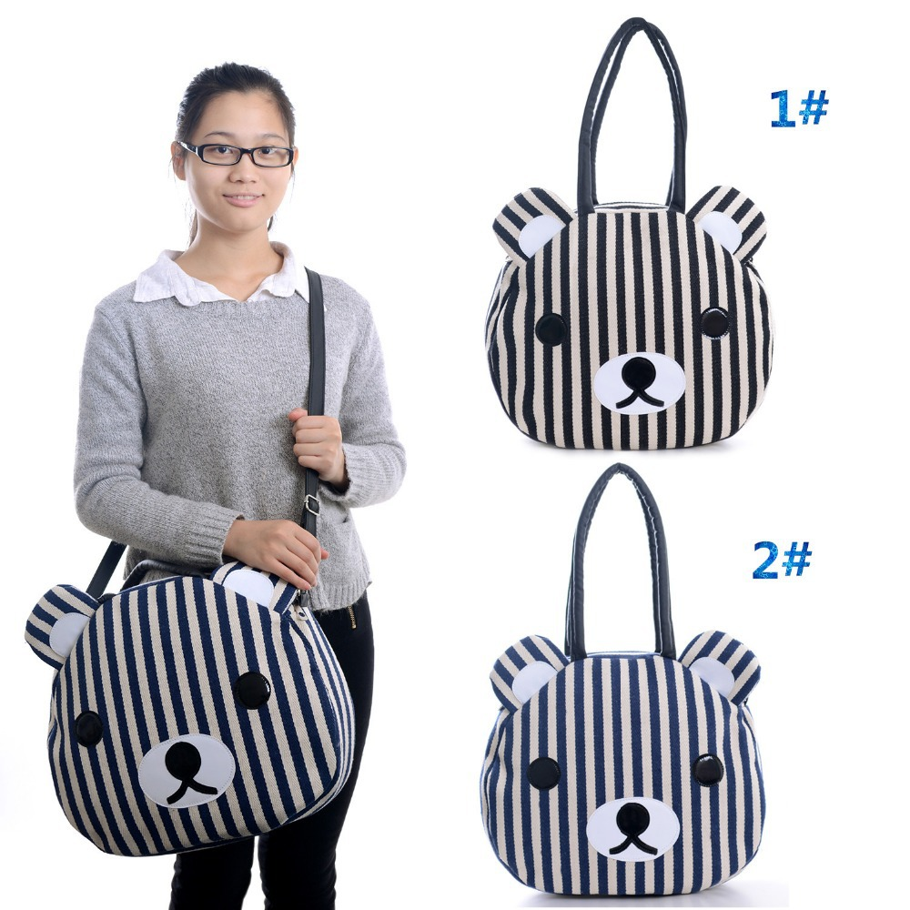 2 Style Large Girls Women Handbag Cartoon Rilakkuma Bear Casual Bag Shoulder Bag Shopper Bag Tote Bag Schoolbags 16*13'' New #(China (Mainland))