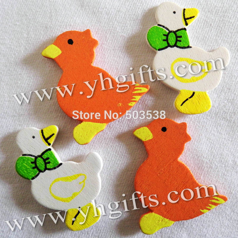 200PCS/LOT.Wood duck & chick stickers,Kids toys,scrapbooking kit,Early educational DIY.Kindergarten crafts.Classic toy
