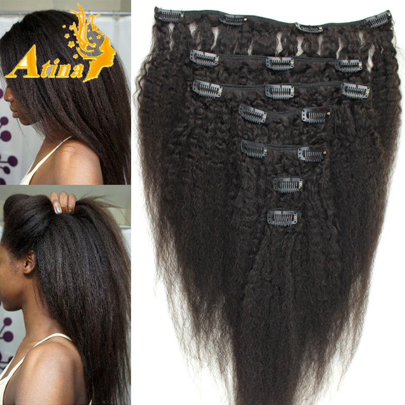 Kinky Weave Extensions Remy Indian Hair
