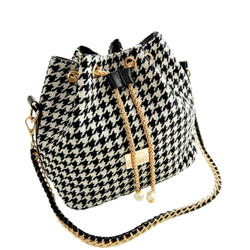 women bag New 2015 Women Handbag National Trend Bohemia Style Print Chain Drawstring Bucket Bag Women Messenger Bag Z65(China (Mainland))