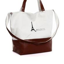 Canvas women leisure elegant handbag messenger shoulder bag PU female classic travel accessories