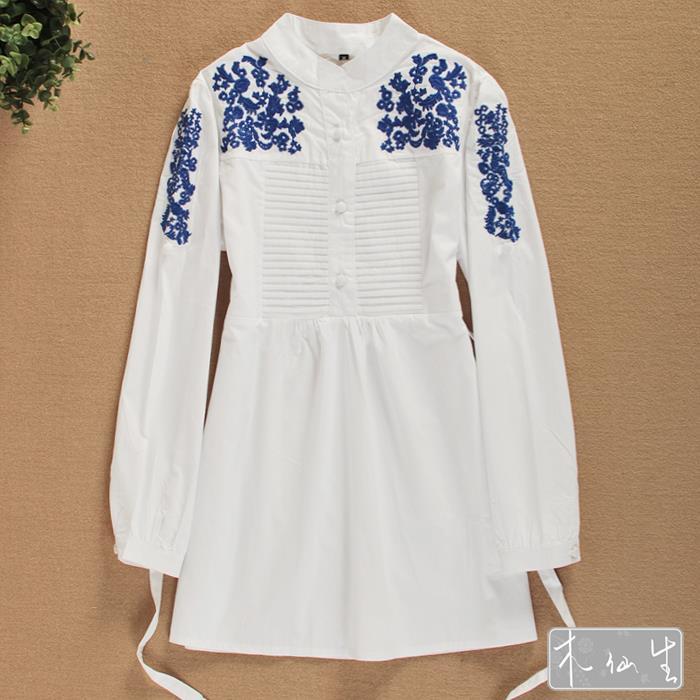 Fashion women clothes national embroidery elegant