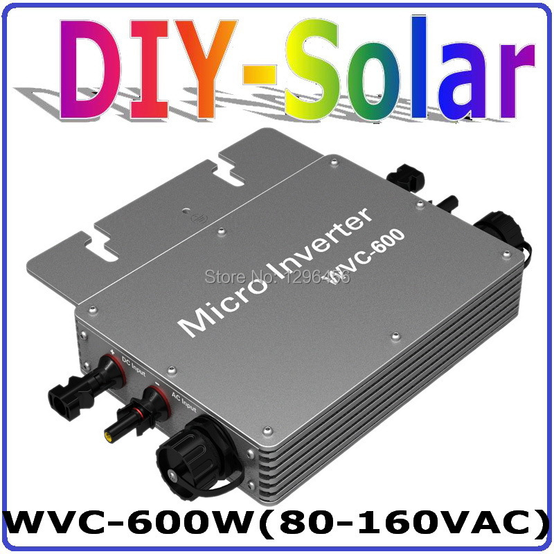 600w New Micro Grid Tie Inverter For Solar Home System MPPT Function DC 36V AC 120V Pure Sine Wave Communication Inverter(China (Mainland))