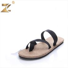 2016 Famous Brand Designer Straw Men Casual Sandals Slippers Genuine Shoes Open Toe Flip flops Summer Outdoor Beach Men Shoes