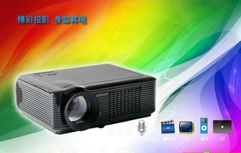 Cheapest LED LCD 1080P projector for home cinema,KTV,nightclubs,video game projector(green products) support TV/VGA/AV/USB/HDMI