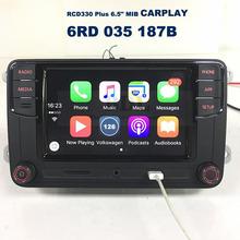 "CarPlay APP RCD330 Plus 6.5"" MIB Car Radio 187B For VW Tiguan Golf 5 6 Jetta MK5 MK6 Passat CC Polo 6RD 035 187B(China (Mainland))"