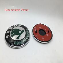 3D Skoda capot avant Bonnet Badge emblème 88 mm, Arrière tronc Boot Logo 79 mm pour Octavia Fabia superbe Yeti rapide ROOMSTER