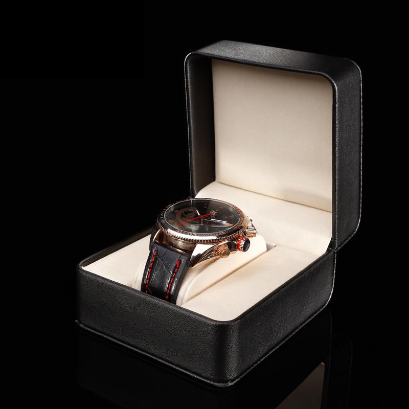 Black Leather Single Watch Box High Quanlity Original Watch Storage Box Fashion Gift Box For Watch A062(China (Mainland))