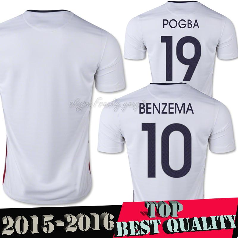 Tops 2015 France Jersey Ribery Benzema Pogba Zidane Nasri 15 16 France Natio