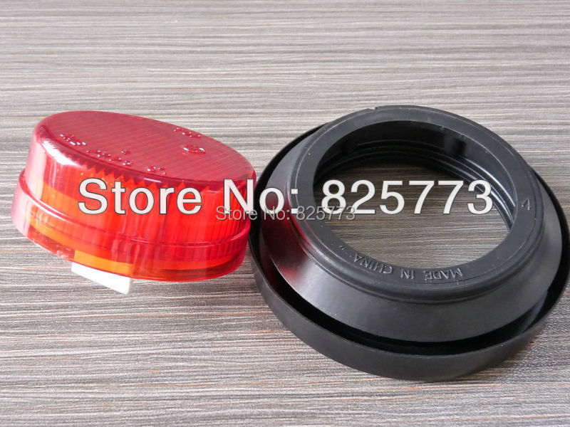2 Red Round Sealed Lamp Clearance Marker Light 4 LED Grommet Mount Trailer RV DOT,SAE,ECE approval<br><br>Aliexpress