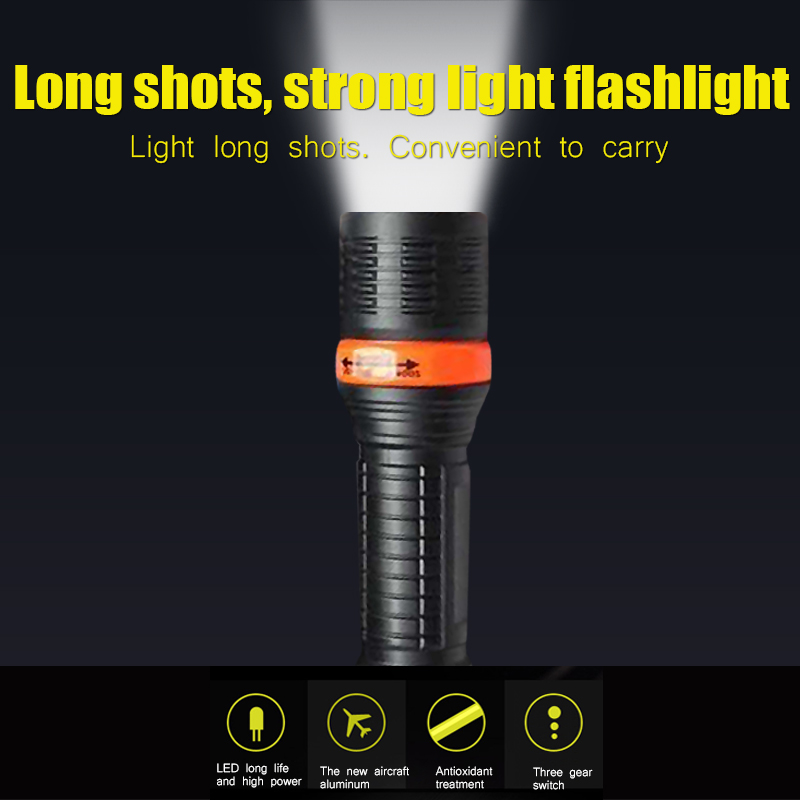 Гаджет  super bright led flashlight Mini Black and blue 800LM Waterproof  LED Flashlight 3 Modes Zoomable LED Torch penlight portable None Свет и освещение
