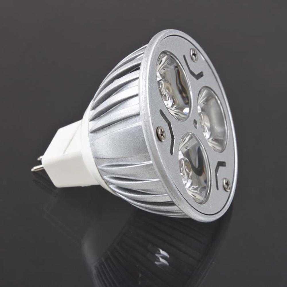 (10pcs/lot) MR16 12V 3W LED Lamp Bulb Warm/Cool White Spotlight Spot Light(China (Mainland))