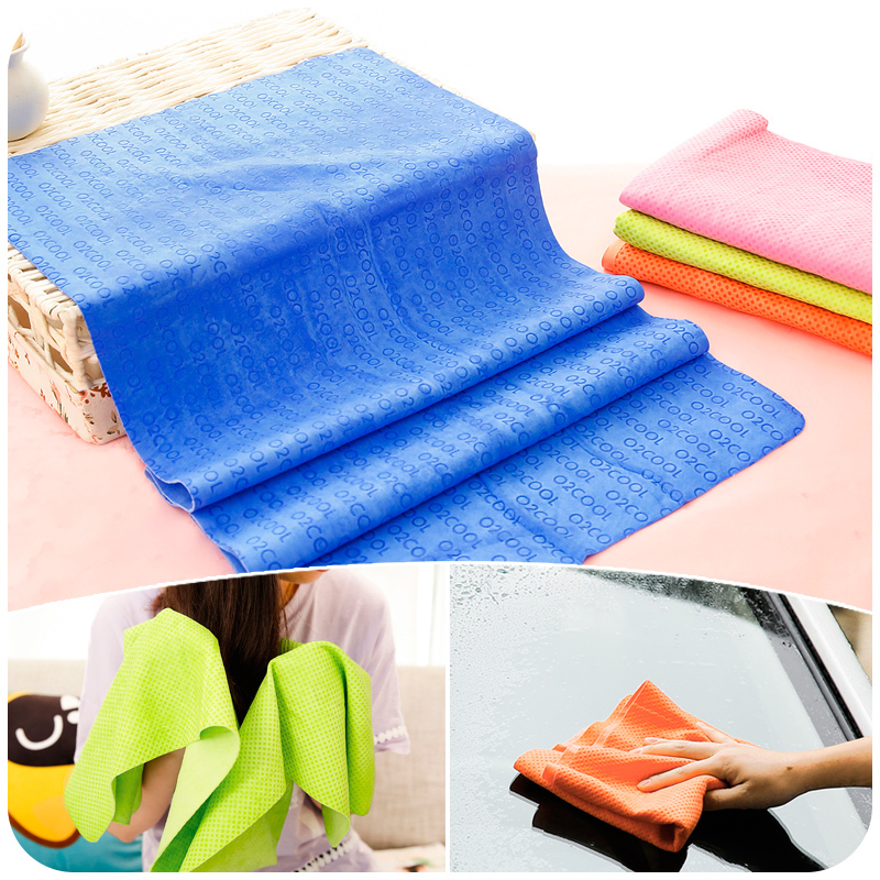 Large Printing Thick Super Absorbent Chamois Towel Dry Hair Towel Clean Car Towel Glass Towel(China (Mainland))