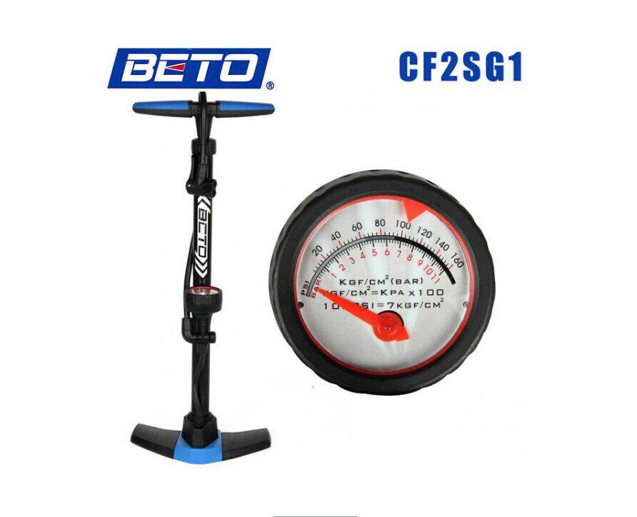 2015 New Beto bicycle floor type vertical 24 inch pump household high pressure pump belt pressure gauge bicicleta mountain bike(China (Mainland))