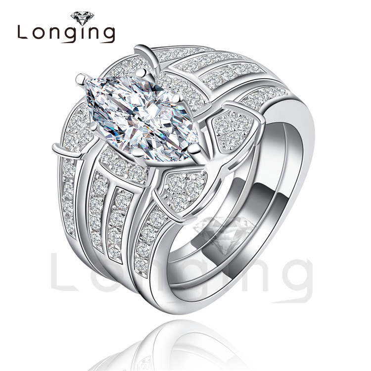 longing new ring sets wedding engagement ring luxury bijoux for women