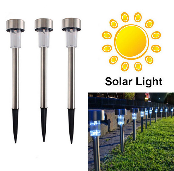 Solar Lawn Light for Garden Decoration 100% Solar Power Outdoor Solar Lamp LED Path Spot Lights Luminaria(China (Mainland))